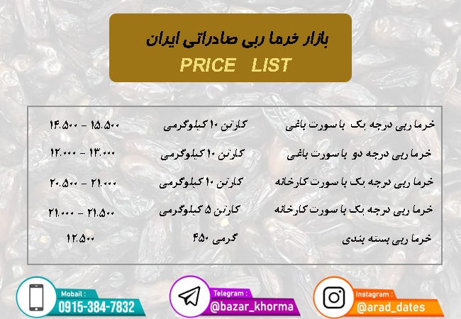 خرمای ربی سیستان و بلوچستان