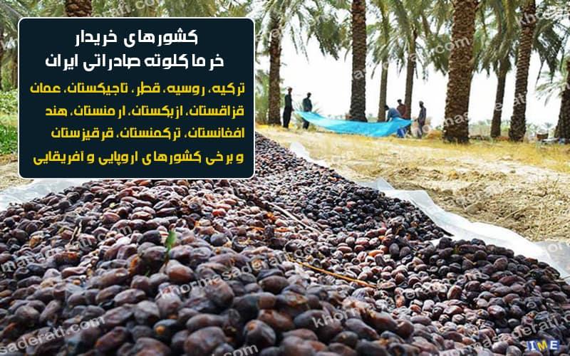 صادرات خرما کلوته ایران