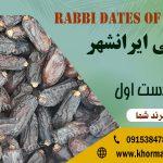 قیمت خرما ربی ایرانشهر